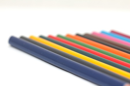 colored pencils. macro Stock Photo - 17365559