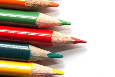 colored pencils. macro Stock Photo - 17365854