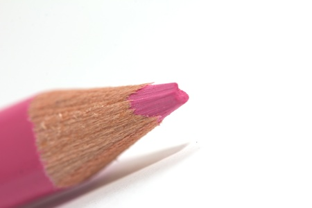 pink pencil on a white background. macro Stock Photo - 17365501