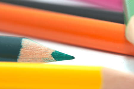 colored pencils. macro Stock Photo - 17365750