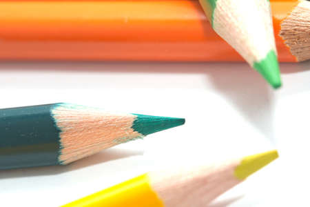 colored pencils. macro Stock Photo - 17365666