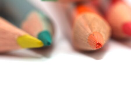 colored pencils. macro Stock Photo - 17365632