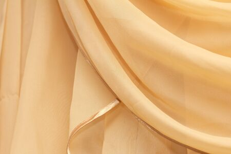 background of yellow curtains Stock Photo - 17366059