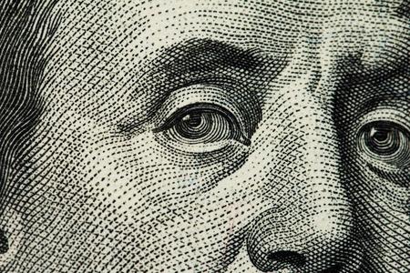 hundred dollar bill: dollar macro Stock Photo