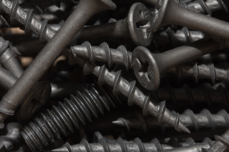 nuts and screws. macro photo