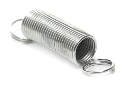 metal spring on a white background. macro Stock Photo - 17365276