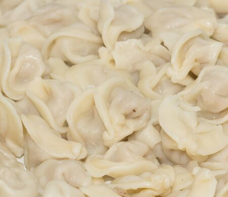 background Dumplings, Russian national dish photo