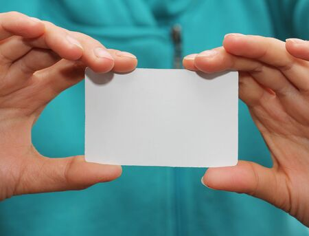 white card in hand photo