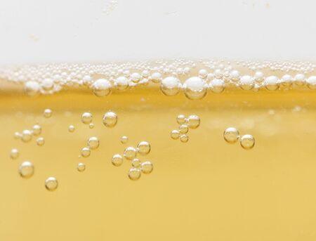 background of yellow beer. macro photo
