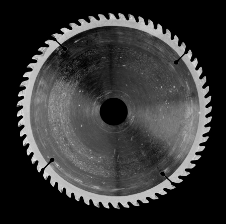 Circular saw isolated over a black background  Stok Fotoğraf
