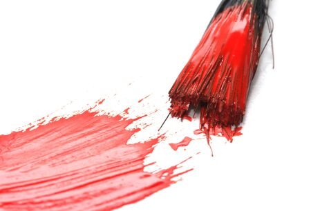 red gouache on white background. Stock Photo - 17637594