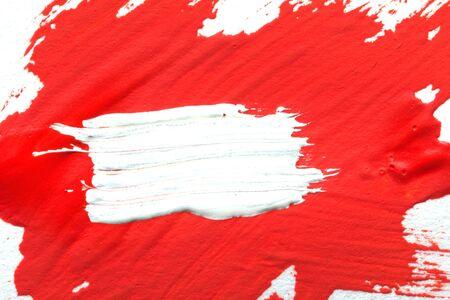 red gouache on white background. Stock Photo - 17637866