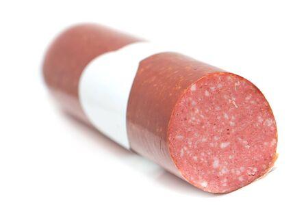 llonganissa: sausage on a white background