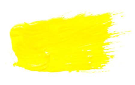 guache: gouache de color amarillo sobre fondo blanco.