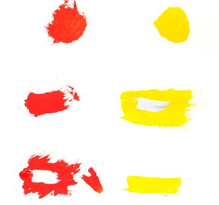 dabs: Paint dabs. Stock Photo