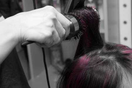 styling hair at the hairdresser Stock Photo - 17873476