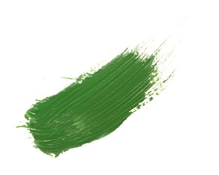 guache: gouache verde sobre fondo blanco