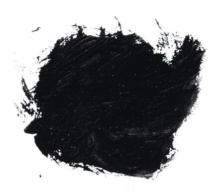 gouache: black gouache on white background.