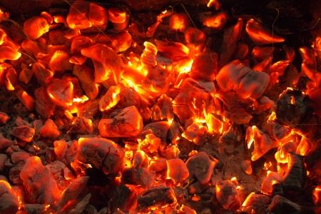 バック グラウンドで非常に熱い木炭 写真素材