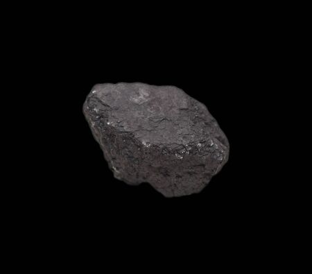 coal on a black background