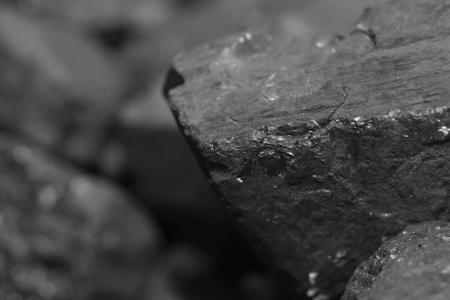 石炭パイルのクローズ アップ