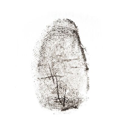 fingerprints on a white background photo