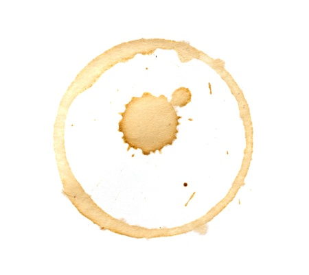 Coffee cup rings isolated on a white background. photo
