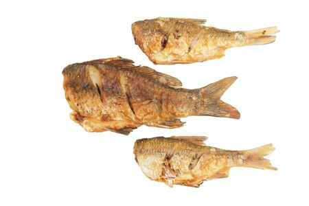fried fish on a white background Stock Photo - 18757460