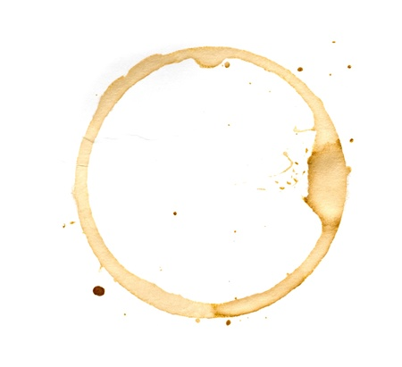 Coffee cup rings isolated on a white background. Stock Photo