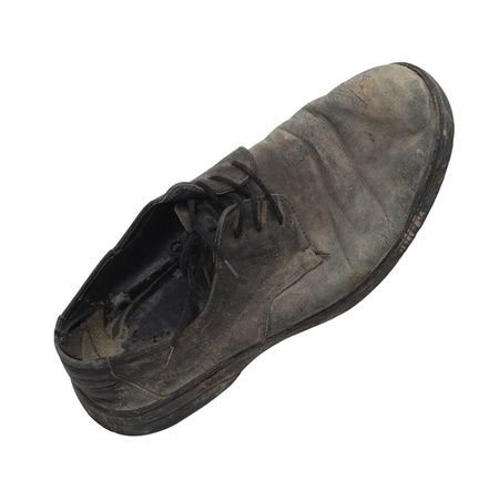 old black shoes on a white background Stock Photo - 19230626