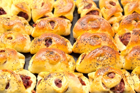 background of fresh tasty muffins photo