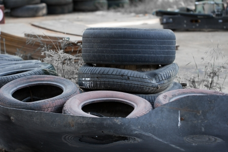 vulcanization: old tires from cars