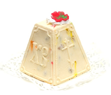 the feast of the passover: cake of cheese on Orthodox Easter Stock Photo