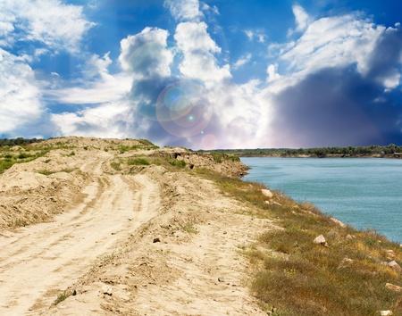 beautiful river Syrdarya Stock Photo - 20532471