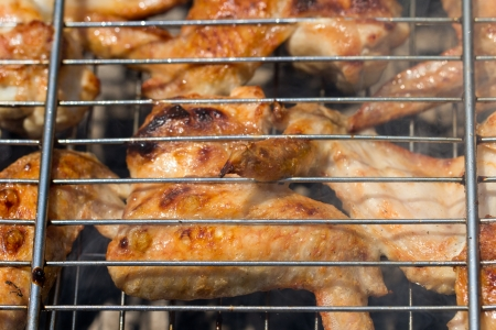 skewers. grilled meat on the coals Stock Photo - 21332207