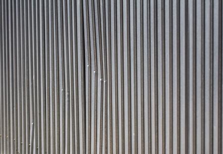 provisional: valla met�lica como tel�n de fondo Foto de archivo