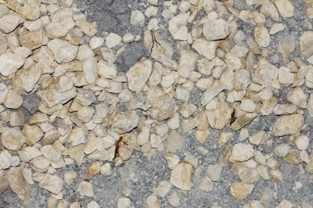 background of small pebbles and sand photo