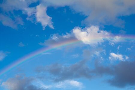 rainbow in the sky on the nature Stock Photo - 21334837