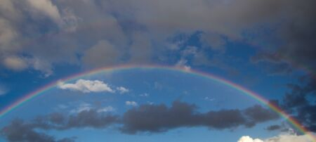 rainbow in the sky on the nature Stock Photo - 21334531