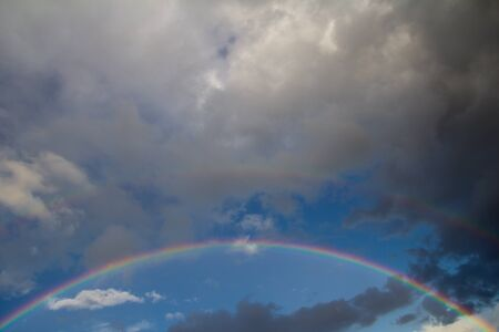 rainbow in the sky on the nature Stock Photo - 21334433