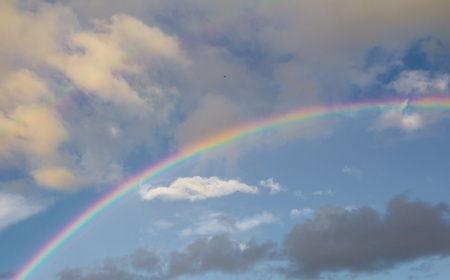 rainbow in the sky on the nature Stock Photo - 21334435