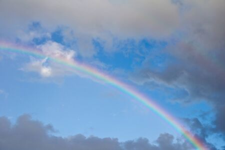 rainbow in the sky on the nature Stock Photo - 21334436