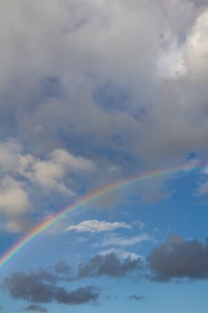 rainbow in the sky on the nature Stock Photo - 21334382