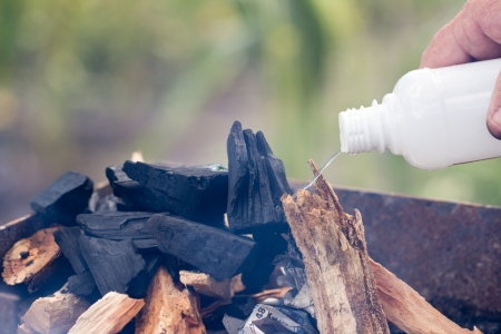 kindling: kindling coal grill Stock Photo