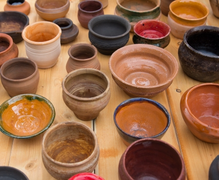 tableware made of clay photo