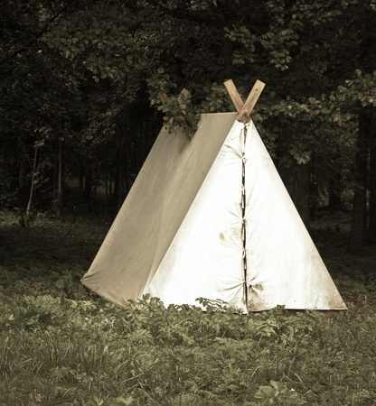 tent in the woods photo