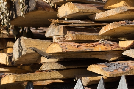 Background of wooden logs Stock Photo - 22148414