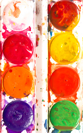 colorful watercolor paints photo