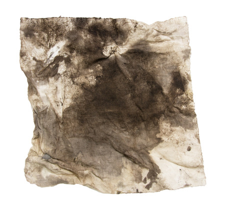 dirty rag on a white background Stock Photo - 22604657