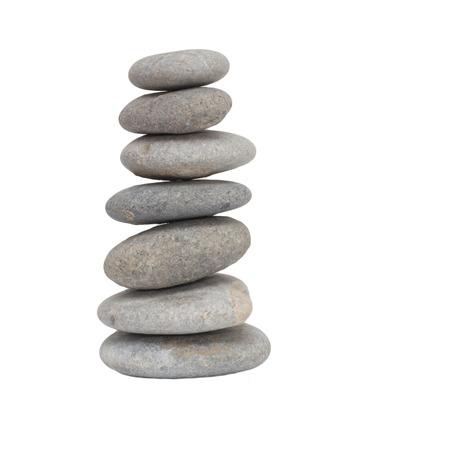 zen stone: stones on white background